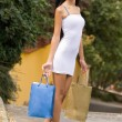 Gorgeous shopper. — Stock Photo