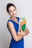 Cute young brunette student. — Stock Photo