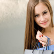 Gorgeous young shopper. — Stock Photo
