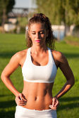 Super fit girl. — Stock Photo