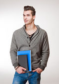 Handsome young student. — Stock Photo