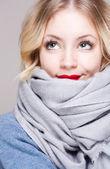 Cute winter fashion girl. — Stock Photo