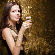 Cool elegant festive woman. — Stock Photo