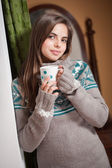 A cup of hot beverage. — Stock Photo