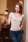 Wine joy. — Stock Photo