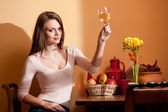 Wine lover. — Stock Photo
