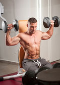 Super fit young man. — Stock Photo
