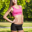 Beautiful slender young fitness girl. — Stock Photo #50070907