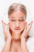 Immersed in music. — Stock Photo
