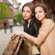 Fashionable shopping beauties. — Stock Photo #50433129