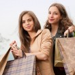 Fashionable shopping beauties. — Foto Stock