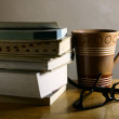 Coffee Break - Books — Stock Photo