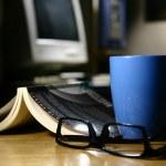 Coffee Break - Computer — Stock Photo