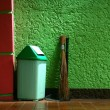 Trash bin, broom and dust pan — Stock Photo #48161803