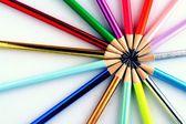 Affilato matite colorate — Foto Stock
