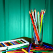 Different Colorful Art and Writing Materials — Stock Photo #49420069