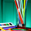 Different Colorful Art and Writing Materials — Stock Photo #49420085