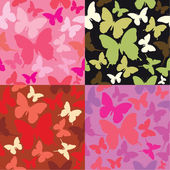 Abstract backgrounds with butterflies siluetes — Stock Vector
