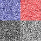 单色代码抽象无缝模式 — 图库矢量图片