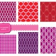 Set of fabric textures with different lattices - seamless patter — Stock Vector #14057222