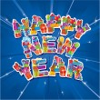 Abstract Happy New Year blue background — Image vectorielle
