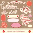 Valentine's day design elements - different labels — Stock Vector #16179161