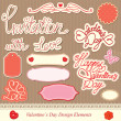 Valentine's day design elements - different labels — Stock Vector
