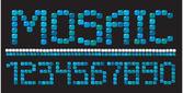 Mosaic numerals — Stock Vector