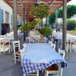 Stock Photo: Small restaurant on outdoor terrace