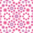 Stock Vector: Floral seamless pattern in pink colors