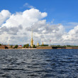 View of Saint Petersburg from Neva river. The Peter and Paul For - Stock Photo
