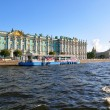 View of  Winter Palace from Neva river. St.Petersburg, Russia — Foto de Stock