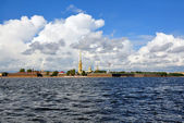 View of Saint Petersburg from Neva river. The Peter and Paul For — Stock Photo