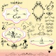 Vintage ornaments and frames, calligraphic design elements and p — Stock Vector #23567165