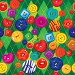 Seamless background with colorful  sewing buttons — Imagen vectorial