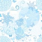 Light Blue floral seamless pattern — Stock Vector