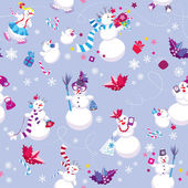 Seamless pattern for New Year or Christmas holiday design. Winte — Stock Vector