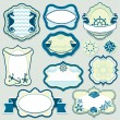 Set of design elements - marine themes frames, badges and labels — Stock Vector