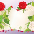 Illustration of love letter with hearts and flowers - rose, dais — Image vectorielle