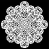 Abstract circle lace pattern. — Vecteur