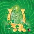 Stock Vector: Holiday card with calligraphic words Happy St. Patricks Day. Sh