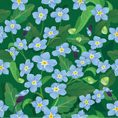 Seamless pattern with beautiful flowers - forget me not - floral — Stock Vector