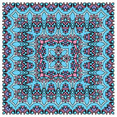 Squared background - ornamental floral pattern. Design for banda — Stock Vector