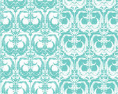 Set of seamless patterns - floral ornamental background — Stock Vector