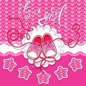 Holiday Dard children gumshoes on pink background - design for g — Stock Vector