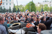 Kramatorsk. Ukraine. Rally in support of the Donetsk People's Republic — Stock Photo