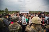 Kramatorsk, Ukraine. 02.05.2014.? heckpoint près du village de Andreevka. — Photo