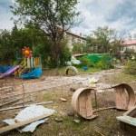 ������, ������: Bombed kindergarten Slavyansk