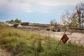 On the road from Slavyansk to Kramatorsk. July 2014 — Stock Photo