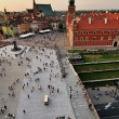 King castle in Warsaw old town — Stock Photo